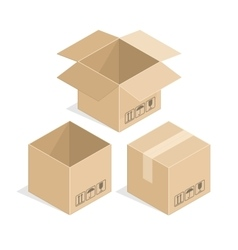 Square cardboard box vector