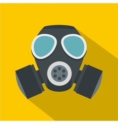 Army gas mask icon flat style vector