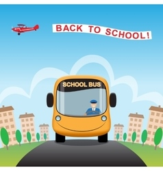 Back to school cartoon background vector