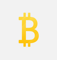 bitcoin cryptographic symbol is an isolated icon vector image vector image