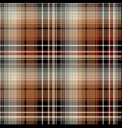 Brown pixel check seamless pattern vector