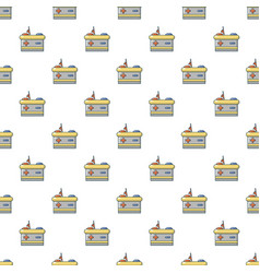 Car battery pattern seamless vector
