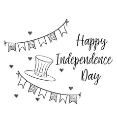 Collection stock of card independence day vector