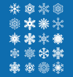 different white snowflakes vector image vector image