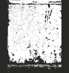 distressed overlay texture of dust metal cracked vector image