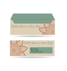 Envelopes for letters front and back vector