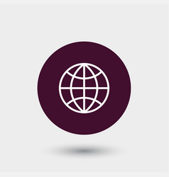 Globe icon simple vector