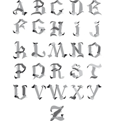 Gothic alphabet vector image vector image