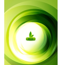 green eco abstract background vector image
