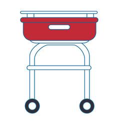 Grill cook cartoon vector