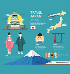 japanese map for traveling in japan design vector image vector image