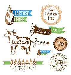 Lactose free elements vector