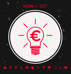 Light bulb with euro symbol business concept vector