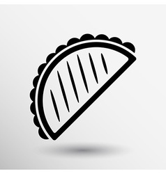 Mexican fast food logo design template tacos icon vector image