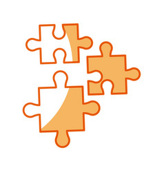 Puzzle pieces object shape work vector