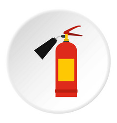 Red fire extinguisher icon circle vector