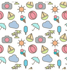 Seamless pattern in stylish colors of traveling vector image vector image