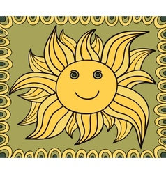Stylized sun drawing background vector