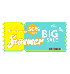 Summer sale voucher vector