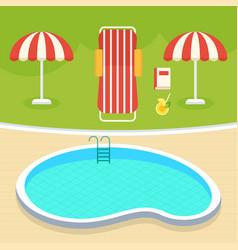 summer swimming pool vector image
