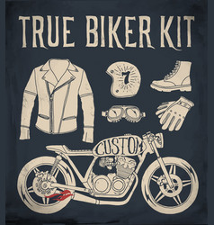 true biker kit vector image