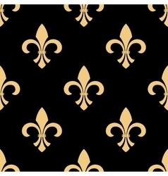 Yellow and black fleur-de-lis pattern vector image vector image