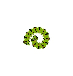 Caterpillar curled up in the ring vector