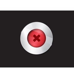 no button cross button vector image