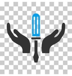 Tuning screwdriver maintenance icon vector