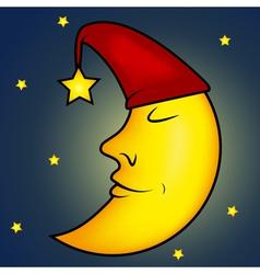 Sleeping moon vector image