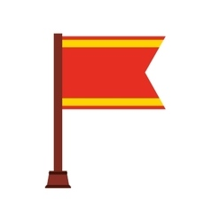 flag championship isolated icon vector image