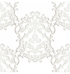 Baroque damask ornament pattern element vector