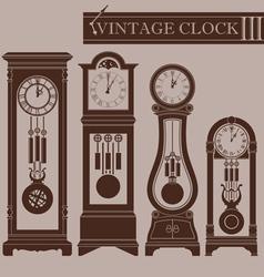 Vintage clock III vector image