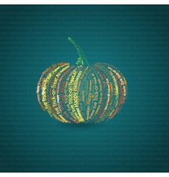 Typographic pumpkin card vector