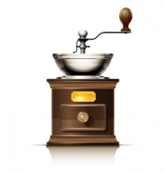 Coffee grinder vector