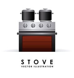 Stove design vector