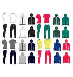 Set of mens sport clothes vector