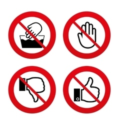 Hand icons like and dislike thumb up symbols vector