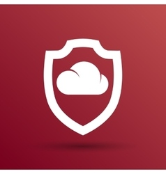 Protection of cloud storage icon internet vector