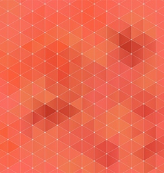 Orange abstract geometric rumpled triangular vector