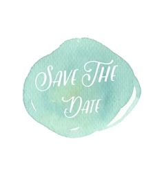 Save the date water color wedding card vector