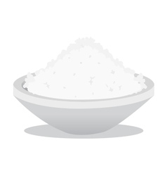 Salt and rice vector