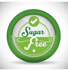 No sugar or sugar free vector