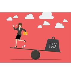 Balancing between business woman and tax vector