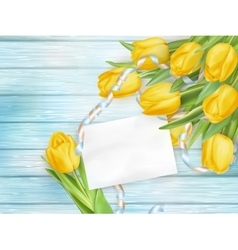 Beautiful bouquet of tulips eps 10 vector