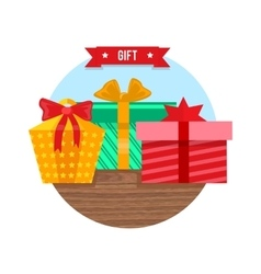 Gift box icon flat design sign vector