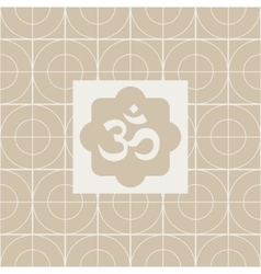 Classic om yoga studio design card vector