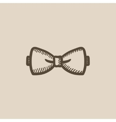 Bow tie sketch icon vector