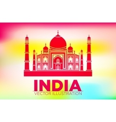 Stencil of the taj mahal on a sunset background vector