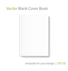 Blank square book cover template on white vector image blank book cover template on white background vector image pronofoot35fo Images